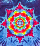Diseño colorido del modelo del teñido anudado Foto de archivo libre de regalías