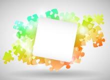 Diseño colorido del rompecabezas Imagen de archivo libre de regalías