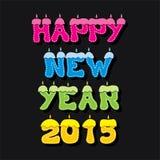 Diseño colorido 2015 del saludo del Año Nuevo Imagen de archivo