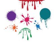 Diseño colorido del splat ilustración del vector