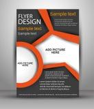 Diseño colorido del vector del folleto Plantilla del aviador para el negocio stock de ilustración
