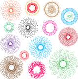 Diseño colorido del vector espiral Imagen de archivo libre de regalías