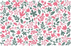 Diseño colorido floral del fondo Fondo del vector con los elementos florales elegantes Modelo con floral para el papel pintado, m ilustración del vector