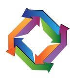 Flechas abstractas Foto de archivo libre de regalías