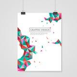 Diseño colorido geométrico de los triángulos para la plantilla del cartel libre illustration