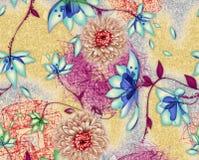 Diseño colorido hermoso del fondo con las flores ilustración del vector