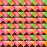 Diseño colorido inconsútil del modelo del triángulo Imagen de archivo