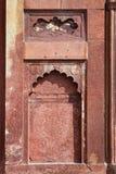 Diseño complejo en el fuerte de Agra Fotografía de archivo libre de regalías