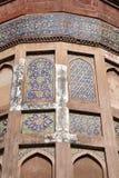 Diseño complejo en el fuerte de Agra Foto de archivo