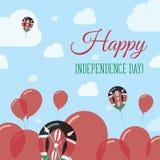 Diseño completamente patriótico del Día de la Independencia de Kenia Imagen de archivo