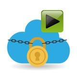 Diseño computacional de la nube Medios icono social Concepto en línea Fotos de archivo libres de regalías