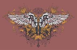 Diseño con alas de las pistolas Fotos de archivo