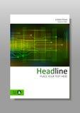 Diseño con HUD, Internet, exhibición futura de la cubierta A4 Vector Fotos de archivo libres de regalías