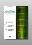 Diseño con HUD, Internet, exhibición futura de la cubierta A4 Vector Imagen de archivo