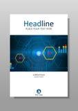Diseño con HUD, Internet, exhibición futura de la cubierta A4 Vector Imágenes de archivo libres de regalías