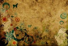 Diseño con las flores stock de ilustración