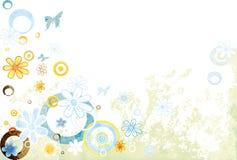 Diseño con las flores ilustración del vector