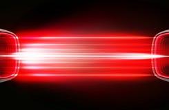 Diseño con los elementos de neón rojos Imagen de archivo libre de regalías