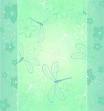 Diseño con una libélula Imágenes de archivo libres de regalías