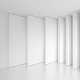 Diseño contemporáneo de la arquitectura Backgr geométrico mínimo blanco Foto de archivo libre de regalías
