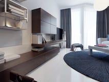 Diseño contemporáneo de la sala de estar Imagen de archivo libre de regalías