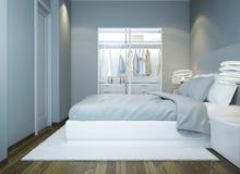 Diseño contemporáneo del dormitorio Fotos de archivo libres de regalías