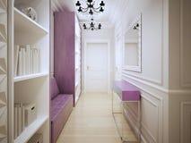 Diseño contemporáneo del pasillo Fotografía de archivo