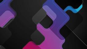 Diseño corporativo del movimiento de la tecnología abstracta púrpura azul marino ilustración del vector