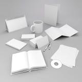 diseño corporativo en blanco de los elementos de la identificación 3d Stock de ilustración