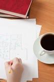 Diseño correcto del gráfico de la mano del muchacho Imágenes de archivo libres de regalías