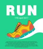 Diseño corriente del maratón Imagenes de archivo
