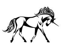 Diseño corriente del vector del caballo del unicornio Foto de archivo libre de regalías