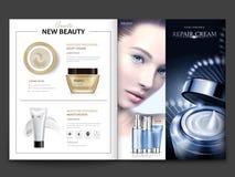 Diseño cosmético de la revista ilustración del vector