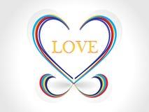 Diseño creativo abstracto del corazón Fotos de archivo libres de regalías
