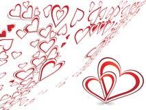 Diseño creativo abstracto del día de tarjeta del día de San Valentín Fotografía de archivo