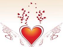 Diseño creativo abstracto del día de tarjeta del día de San Valentín Fotografía de archivo libre de regalías