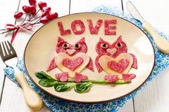 Diseño creativo de bocados para el día de tarjetas del día de San Valentín Imagen de archivo