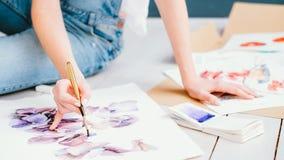 Diseño creativo de la afición de la pintura del arte de la inspiración fotografía de archivo