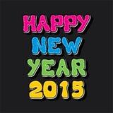 Diseño creativo 2015 de la bandera del Año Nuevo Fotografía de archivo