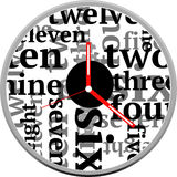 Diseño creativo de la cara de reloj Foto de archivo