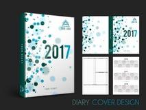Diseño creativo de la cubierta del diario Imagenes de archivo