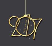 Diseño creativo de la Feliz Año Nuevo 2017 para su tarjeta Foto de archivo libre de regalías