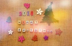 Diseño creativo de la Feliz Navidad 2016 Imagenes de archivo