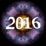 diseño creativo de la tarjeta de felicitación 2016 Fotografía de archivo