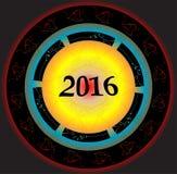 diseño creativo de la tarjeta de felicitación 2016 Fotografía de archivo libre de regalías
