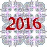diseño creativo de la tarjeta de felicitación 2016 Foto de archivo