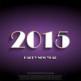 Diseño creativo de la tarjeta de felicitación de la Feliz Año Nuevo 2015 Imagen de archivo libre de regalías