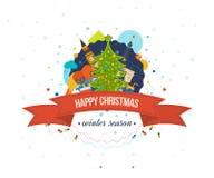 Diseño creativo de la tarjeta de felicitación de la Feliz Año Nuevo 2016 Imagen de archivo