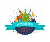Diseño creativo de la tarjeta de felicitación de la Feliz Año Nuevo 2016 Imágenes de archivo libres de regalías