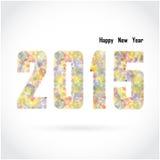 Diseño creativo de la tarjeta de felicitación de la Feliz Año Nuevo 2015 en fondo Fotografía de archivo libre de regalías